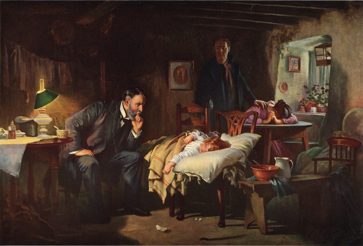 نقاشی پزشک لوک فیلدز